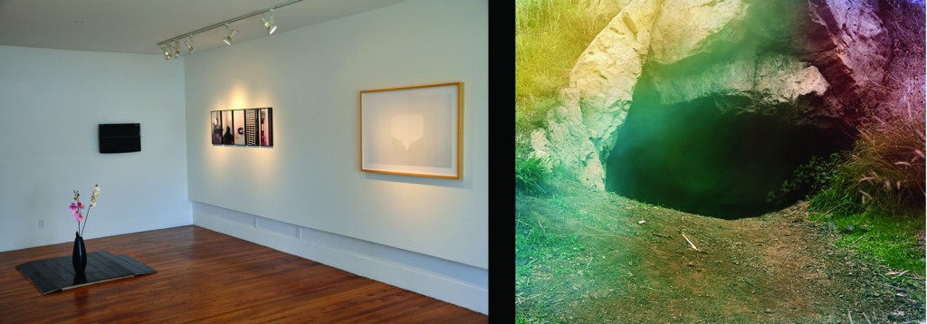 Seth Lower, Diamonds Are Forever exhibition view; Brice Bischoff, Bronson Caves, C-Print