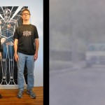 Image Left: Brad Spence and Keith Walsh in front of Astral Body Compound Space/Threshold of Movement; Right: Brad Spence's Van, 2010